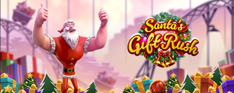 เกมสล็อตซานต้า Santa's Gift Rush PG Slot บนมือถือ